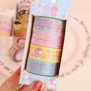 [INSTOCK] 5 Sets Little Twin Stars Washi Tape #1212YES