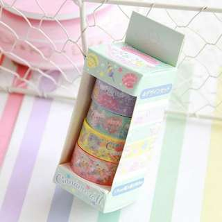 [INSTOCK] 5 Sets Cinnamoroll Washi Tape #1212YES