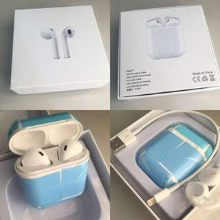 I7 AFans earphone handfree 無線雙耳藍牙耳機包充電器