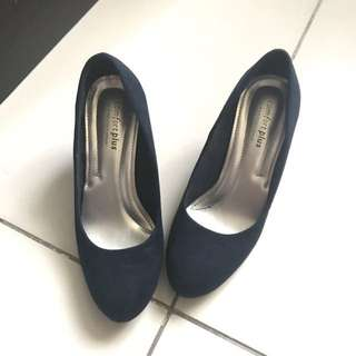 [RESERVED] Comfort Plus Navy Blue Heels