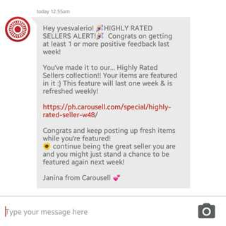 Thank you, Carousell! 😊