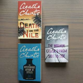 BRAND NEW Agatha Christie novels Death on the Nile The Mysterious Affair at Styles The Mirror Crack'd from Side to Side A Murder is Announced The Secret Anniversary $10 each