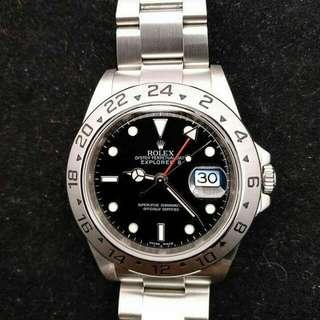 Rolex 16570 黑面 尾期内影字 3186 行貨888 全套齊