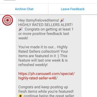 Thank you carousell admin