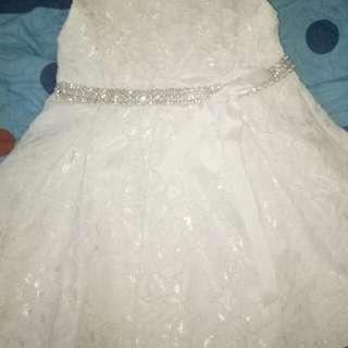 18-24m white elegant dress