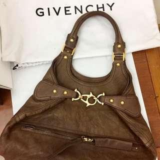 Givenchy hobo leather brown bag