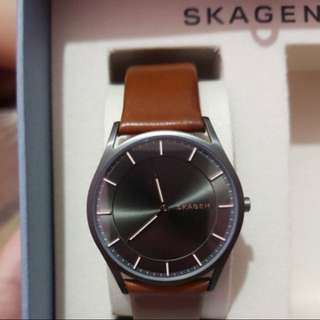 SKAGEN Leather Watch