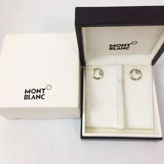 Mont blanc silver earrings