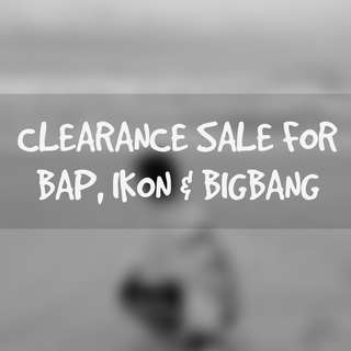 Major Clearance for BIGBANG,BAP,IKON