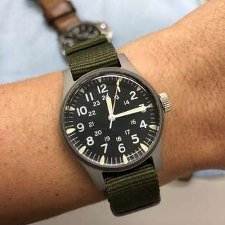 niko and ... 34mm military watch with nato strap (watch only)