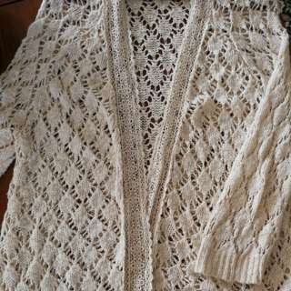 Knitted Crochet Cardigan