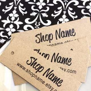 Print Retail Label Gift Tag