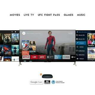 ANDROID TV BOX WITH 1 YEAR SUBSCRIPTION OF IPTV