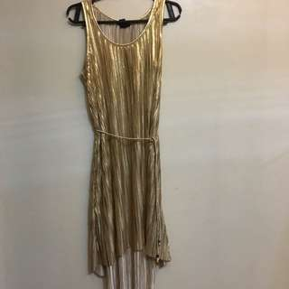 Gold H&M Goddess Dress
