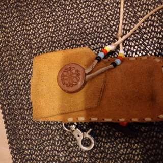 Apache leather pouch