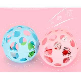 【樣品出清】貓咪超愛玩的啾啾叫滾滾球(有藍色/粉紅色 可選)$150