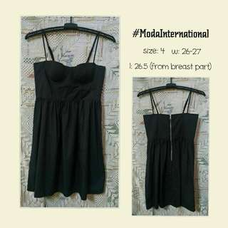 CLEARANCE SALE: Moda International Black Sexy Dress
