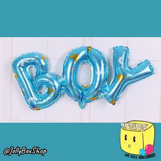 """Boy"" Letters Foil Balloon 