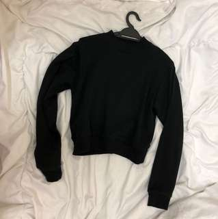 Black high neck sweater