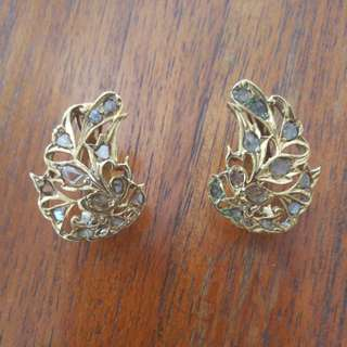 Antique Intan Gold earrings