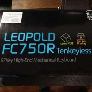 leopold fc750r brown switch filco keyboard pbt