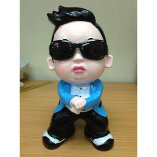 "Psy 10"" Resin Figure Piggy Coin Bank 10吋陶瓷公仔錢甖"