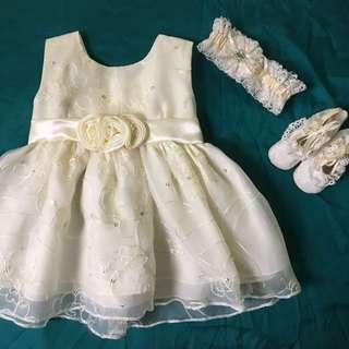 Baptismal/Christening Dress Set