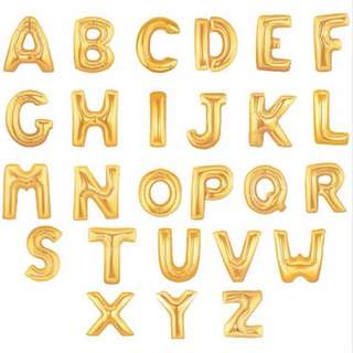 Foil Letter Balloon - Gold (28 inches/2 ft)