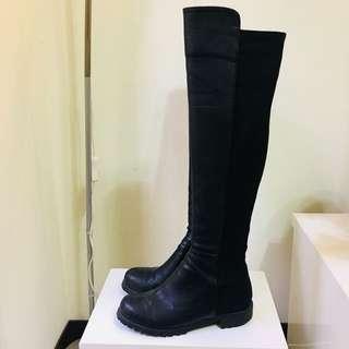 售出✔️正韓 彈性拼接即膝長靴($200)