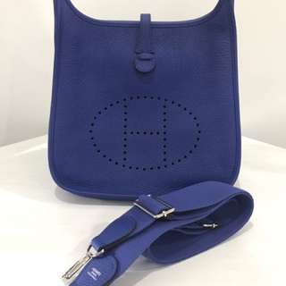 Authentic Hermes Evelyne in Electric Blue