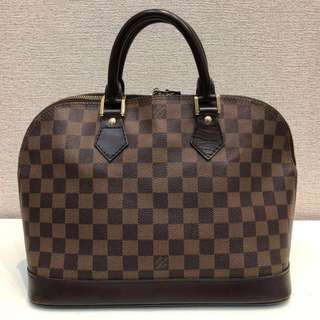 💯%Authentic Louis Vuitton Damier Alma MM tote bag