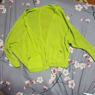 **HOLIDAY ALERT SALE**Yellow green cardigan
