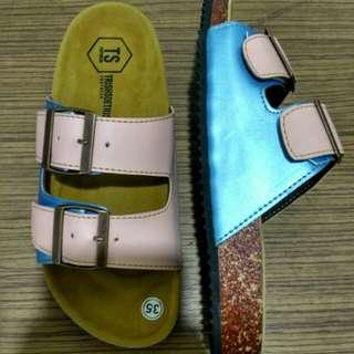 Sandal Casual Sandal Wanita Sandal Sloup Sandal Flat Birkenstock Flat Shoes