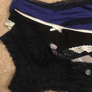 #aerie專櫃蕾絲,棉質、彈性纖維內褲