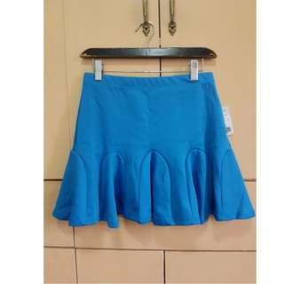 Forever 21 Blue ruffled skirt