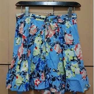 Forever 21 Blue floral skirt