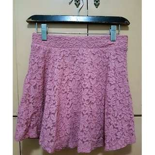 Forever 21 Dusty Pink Lace Skirt
