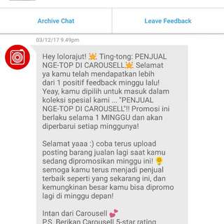 Thank you so much for buyer & carousell 😁