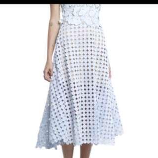 Shakuhachi powder blue lace dress size 10 New without tags