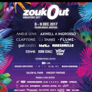 TWO Zoukout Day 2 Ticket