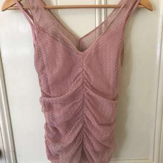 Cooper st clothing pale pink top size 8