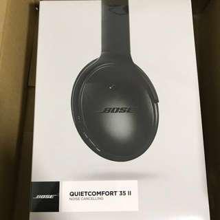 100% NEW BOSE QuietComfort 35 wireless headphones II 消噪無線耳機