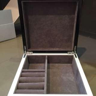 Black and white jewellery box, brand new In box