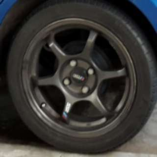 """Replica SSR 15"""" inch rims with 75% tires"""