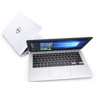 """Dell Inspiron 11 3000 (3162) N3050 11.6"""" HD Notebook (White Color)"""