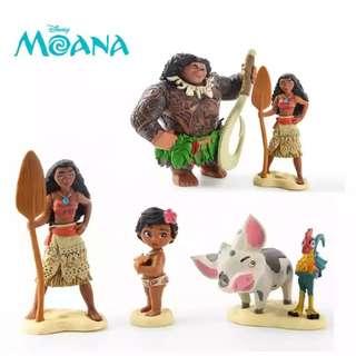 Moana figurine 6pcs