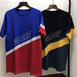 現貨 實拍 最高品質  Palace ZUPONE Stripe Tee 三色拼接 復古 短袖上衣 寬鬆 街頭 純棉 百搭 同款
