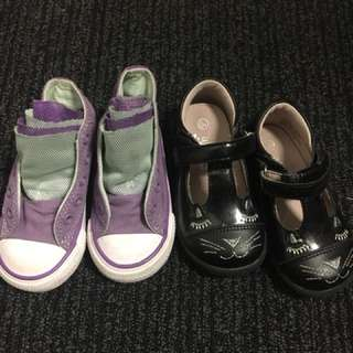 Baby girl shoes as 5 and 5 1/2