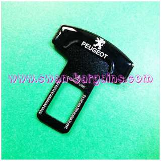Universal 3D Car Safety Belt Buckle Key Clasp Clip With Peugeot Logo