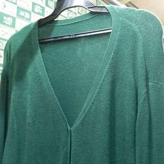 🚚 墨綠色中長版外套#冬季衣櫃出清